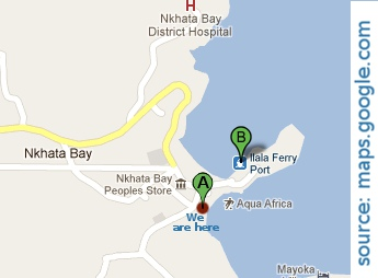 Map to Ilala Bay Lodge